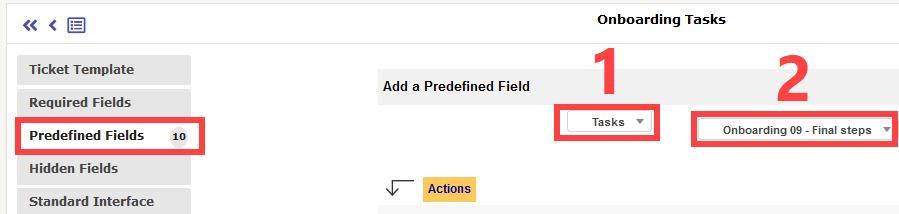 GLPI Predefined Fields